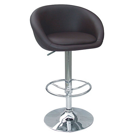 Debenhams - Chocolate brown +Plaza+ gas lift bar stool