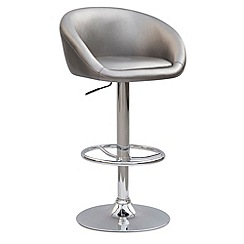 Debenhams - Silver coloured 'Plaza' gas lift bar stool