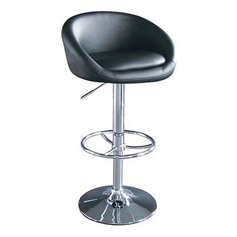Debenhams - Black +Plaza+ gas lift bar stool