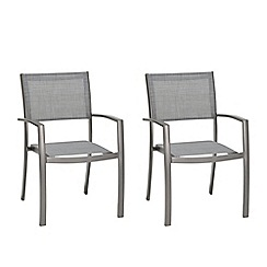 Debenhams - Pack of four 'Solis' dining stacking chairs
