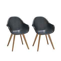 Debenhams - Pair of black 'Montego' dining chairs