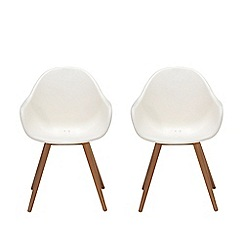 Debenhams - Pair of white 'Montego' dining chairs