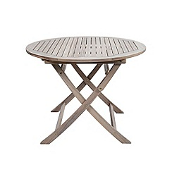 Debenhams - Grey acacia wood 'Panama' round garden table