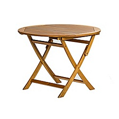 Debenhams - Acacia wood 'Panama' round garden table