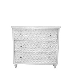 Debenhams - White 'Agra' 3 drawer chest