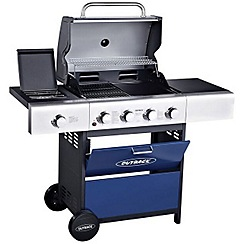 Outback - Blue 'Meteor' 4 burner gas barbeque