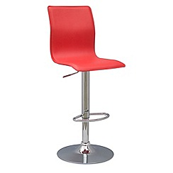 Debenhams - Red 'Midnight' gas lift bar stool