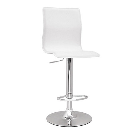 Debenhams - White +Midnight+ gas lift bar stool