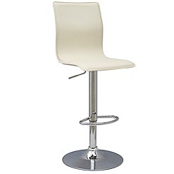 Debenhams - Cream 'Midnight' gas lift bar stool