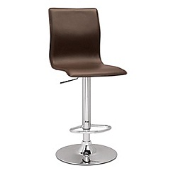 Debenhams - Chocolate brown 'Midnight' gas lift bar stool