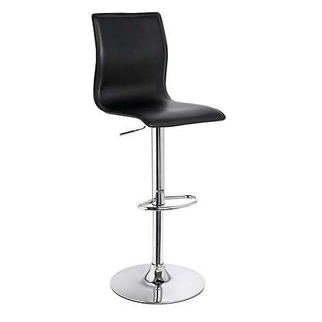 Debenhams - Black +Midnight+ gas lift bar stool