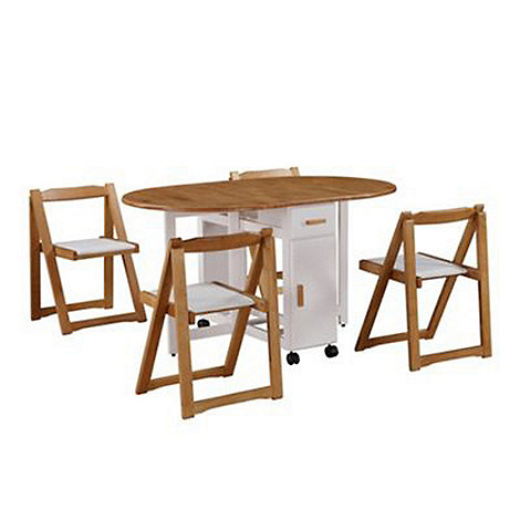 Debenhams - White and oak effect +Stowaway+ extending table