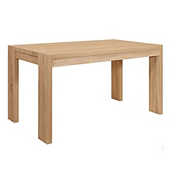 Debenhams - Washed white oak effect 'Cleves' fixed-top table