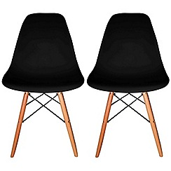 Debenhams - Pair of black 'Avignon' chairs
