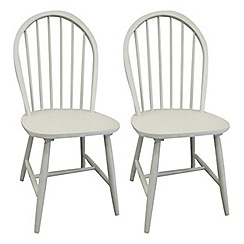 Debenhams - Pair of grey painted 'Windsor' chairs