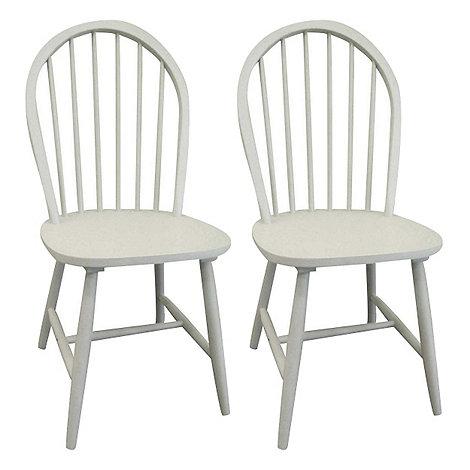 debenhams pair of grey painted 'windsor' chairs | debenhams