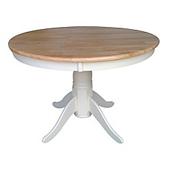Debenhams - Wood and ivory painted 'York' round fixed-top table