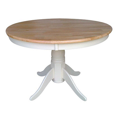 debenhams wood and ivory painted 'york' round fixed-top table