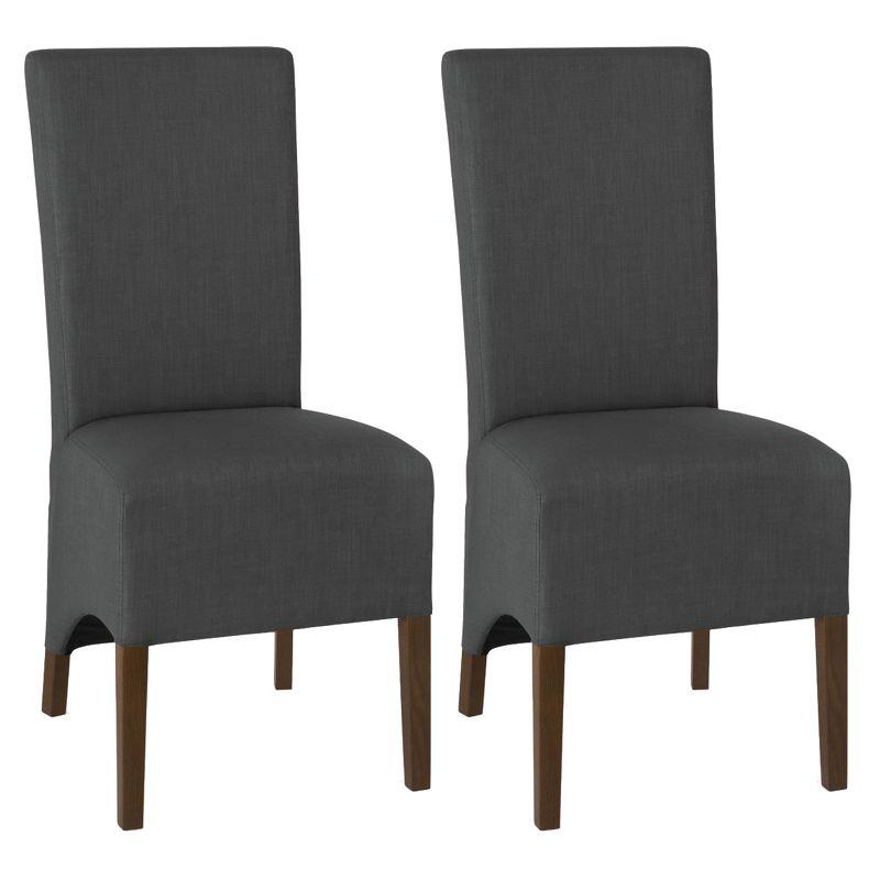 Debenhams Pair of charcoal grey Nina wing back upholstered
