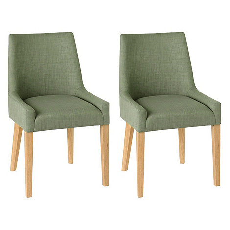 debenhams pair of duck egg blue ella upholstered tub dining chairs