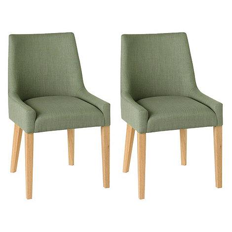 debenhams pair of duck egg blue ella upholstered tub dining chairs