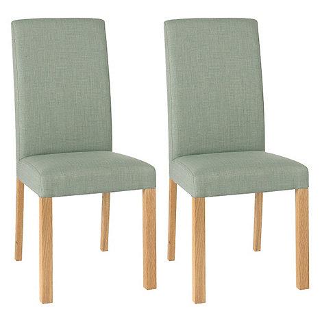 debenhams pair of duck egg blue 39 parker 39 square back. Black Bedroom Furniture Sets. Home Design Ideas
