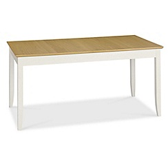 Debenhams - Oak and painted 'Burton' extending table