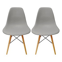 Debenhams - Pair of grey 'Avignon' chairs