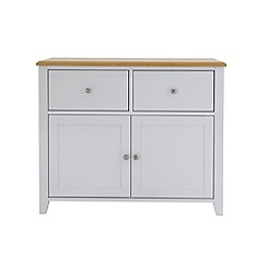 Debenhams - Oak effect and white 'Georgia' sideboard
