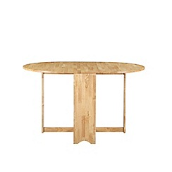 Debenhams - Oak effect 'Tuckaway' extending table