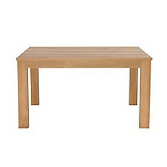 Debenhams - Oak effect 'Benjamin' fixed-top table