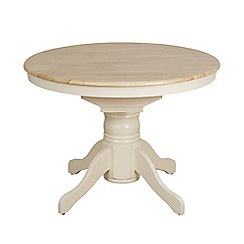 Debenhams - Two-tone 'York' round extending table