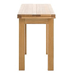 Debenhams - Oak finished 'Jackson' extending console table