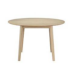 Debenhams - 'Contempo' round fixed dining table