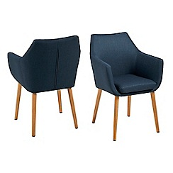 Debenhams - Blue 'Nia' carver chair