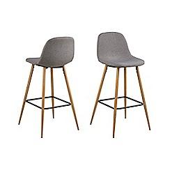 Debenhams - Light grey 'Wren' bar stool