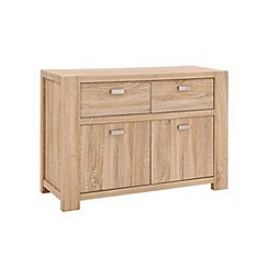 Debenhams - Washed white oak effect 'Cleves' sideboard