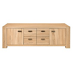 Debenhams - Washed white oak effect 'Cleves' TV unit