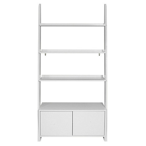 Debenhams - White 'Nash' open shelving unit with cupboard