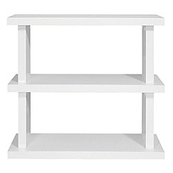 Debenhams - White 'Nash' small bookcase