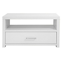 Debenhams - White 'Nash' coffee table with single drawer