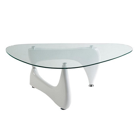 Debenhams - White glass 'Osaka' coffee table