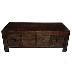 Debenhams - Mango wood coffee table with 8 drawers
