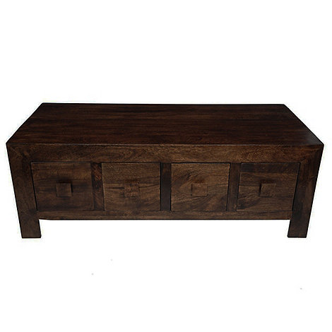 Debenhams - Mango wood coffee table with drawers