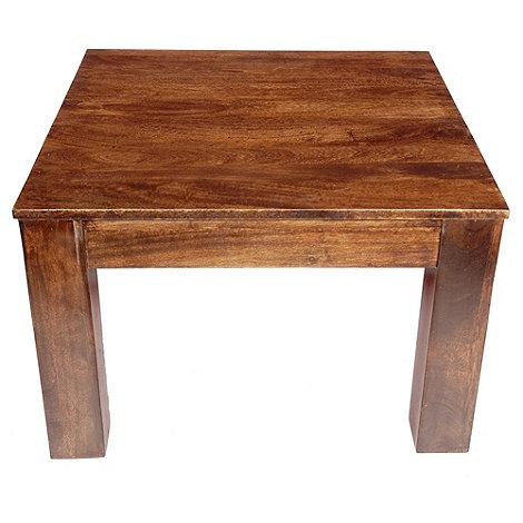 debenhams mango wood side table at. Black Bedroom Furniture Sets. Home Design Ideas