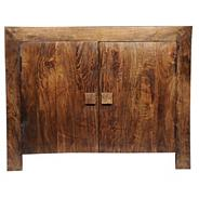 Mango wood two door small side board