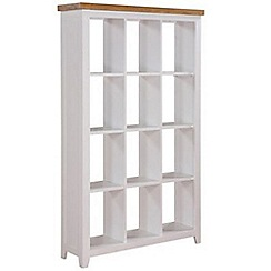 Debenhams - Oak and white 'Fenton' open shelving unit