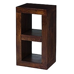 Debenhams - Mango wood small open shelving unit