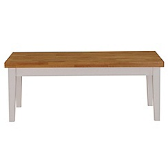 Debenhams - Oak and white 'Fenton' coffee table