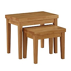 Debenhams - Oak 'Fenton' nest of 2 tables